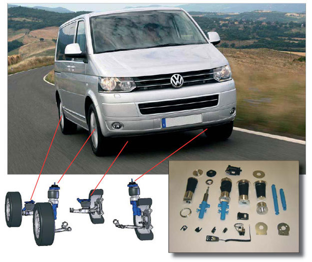 VW transporter VB Air suspension kit