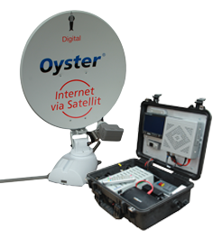 Oyster Broadband internet case mounted
