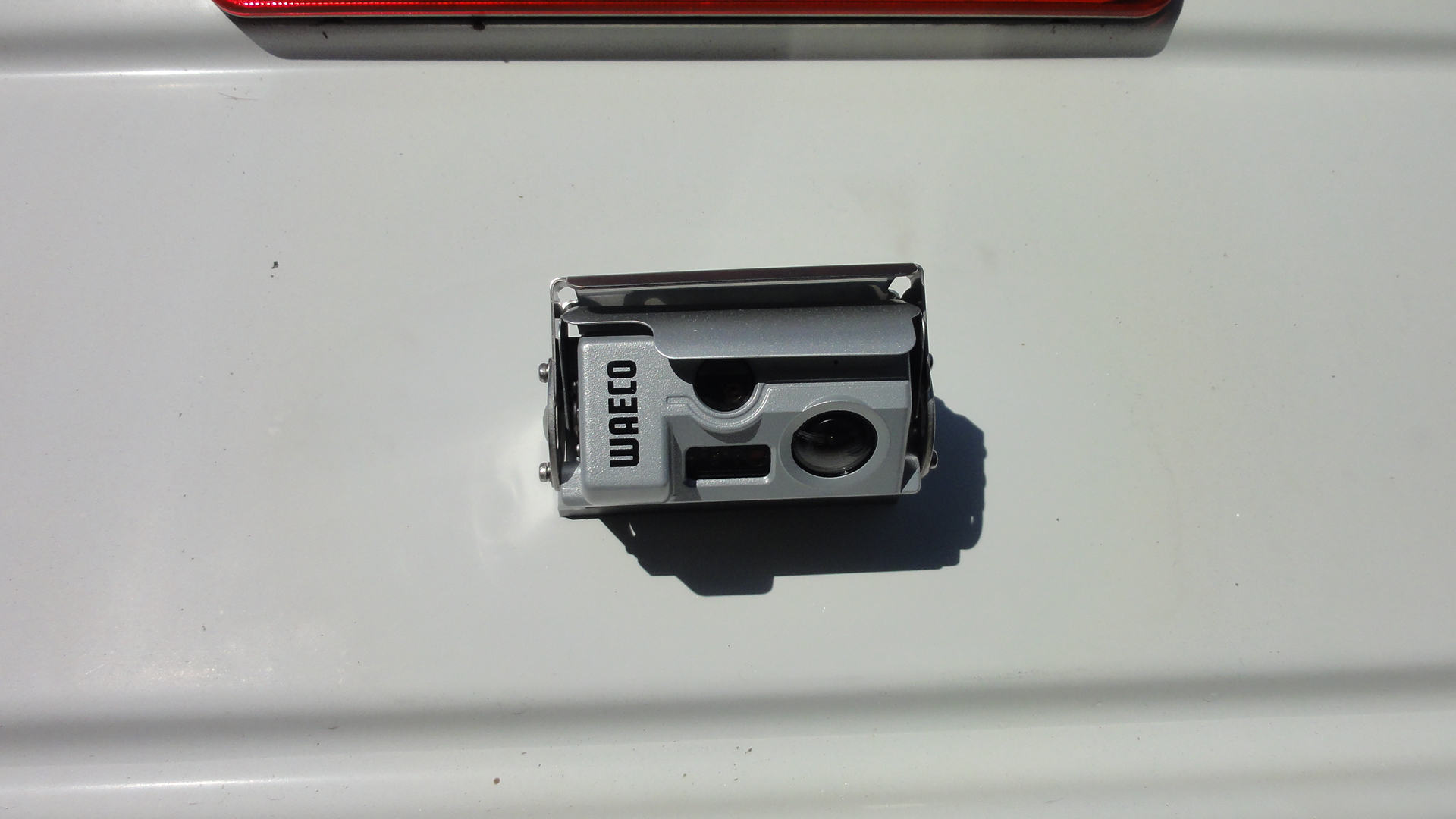 Close up of CAM44 on Hymer A Class