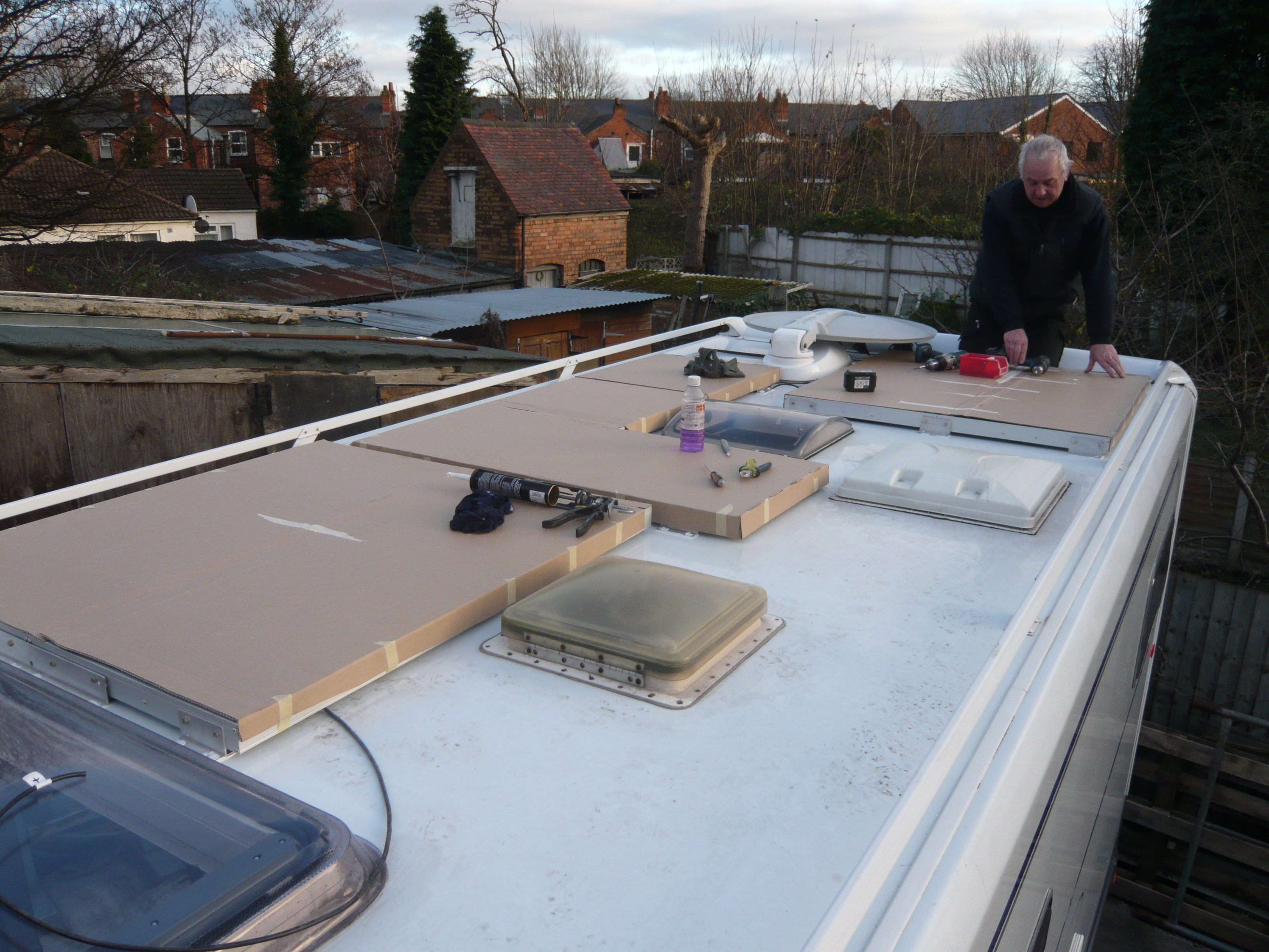 Installing solar panels on Flair roof