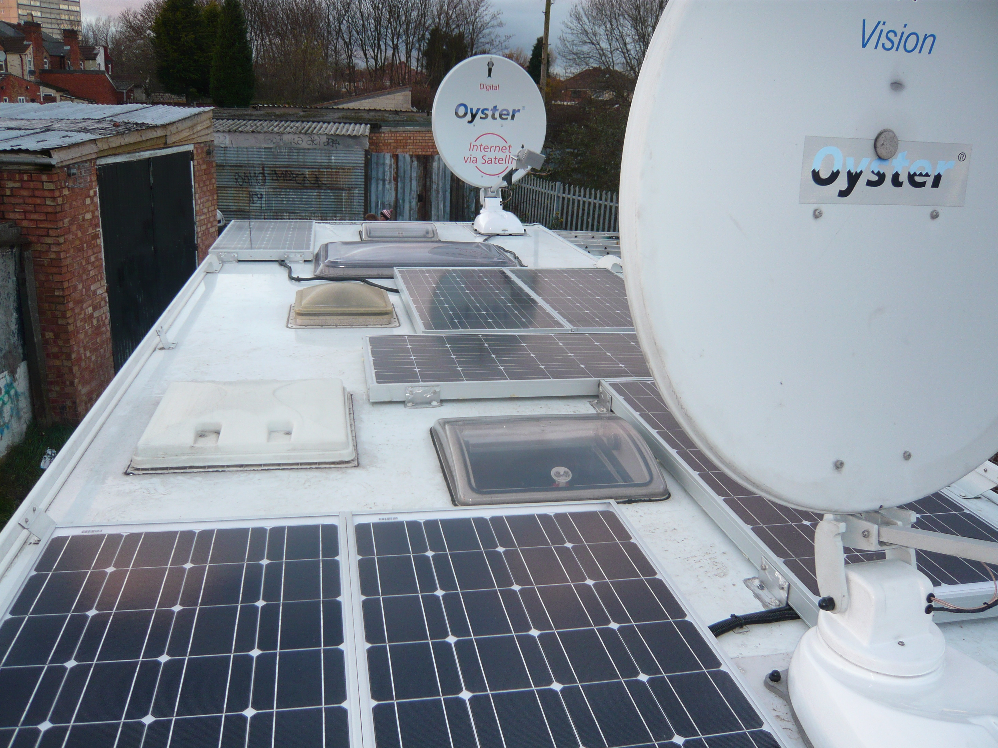 Solar panels, Oyster Internet and Oyster Vision