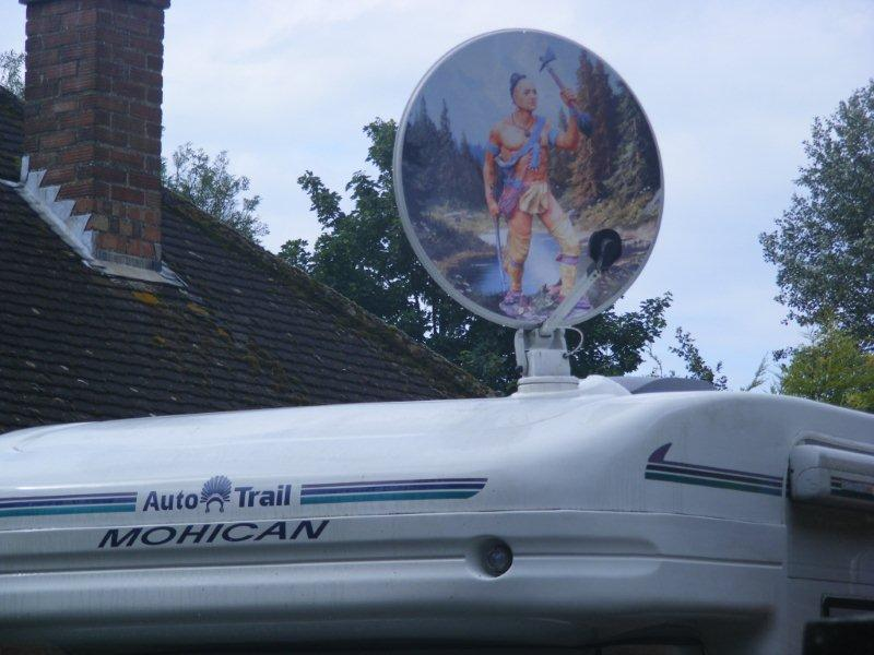 Close up on Autotrail mohican dish