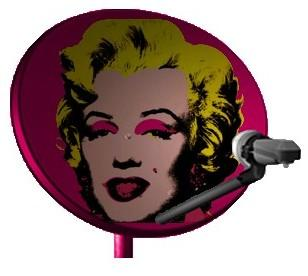 Marilyn Monroe Satellite Dish