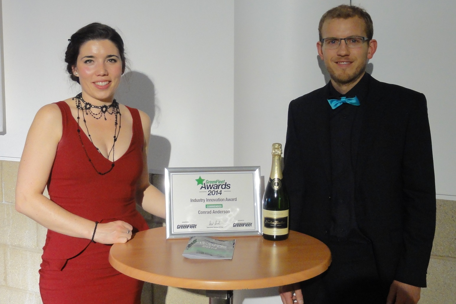Naomi and Nathan Onions Green fleet industry innovation awards